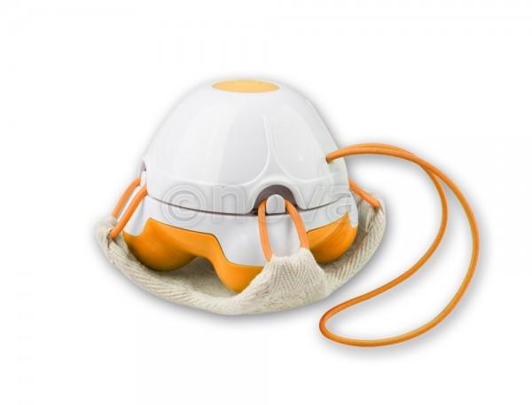 Medisana Mini-Handmassagegerät mit Loofah-Pad - orange -