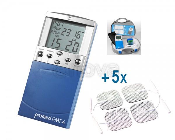 Schmerztherapiegerät EMT-4 + 5 x 4 Elektroden 40x40mm